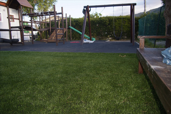We got the call after measuring out the area, We sent our quotation, Which was the cheapest, We called in our guys, We then layed the synthetic grass.